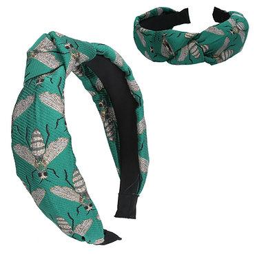 Jacquard Green Headband