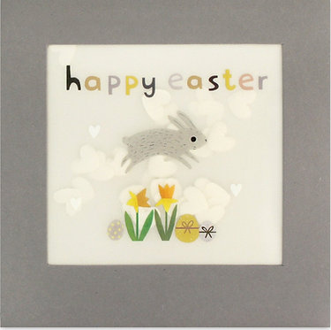Easter Bunny Paper Shakies Card