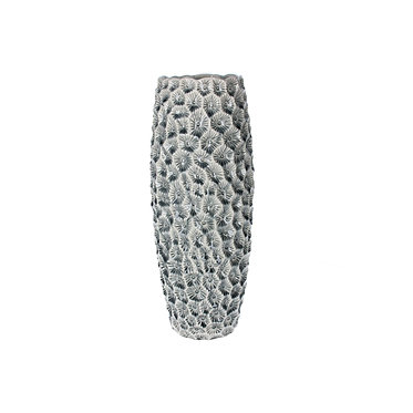 Fossil Design Ceramic Vase