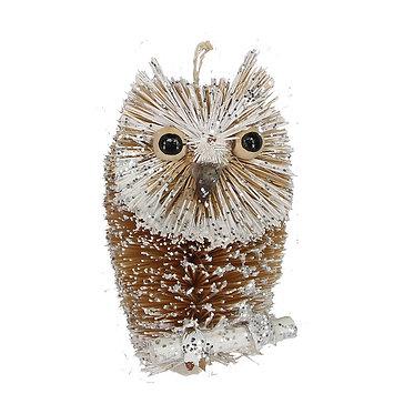 Bristle Owl Hanging Ornament