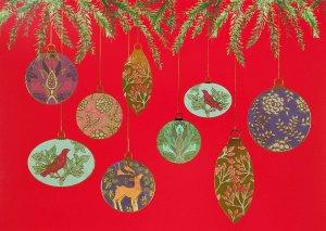 Peter Pauper Large Christmas Cards Golden Ornaments