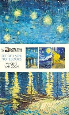 Vincent Van Gogh Mini Notebooks Set of 3