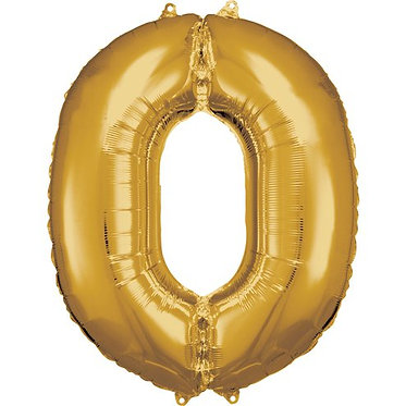 Gold Number Helium Balloon