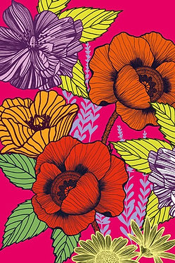 Box of 10 Notecards Bright Floral