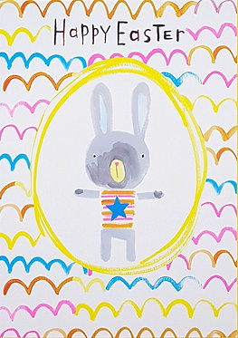 Happy Easter Bunny Card by Paper Salad
