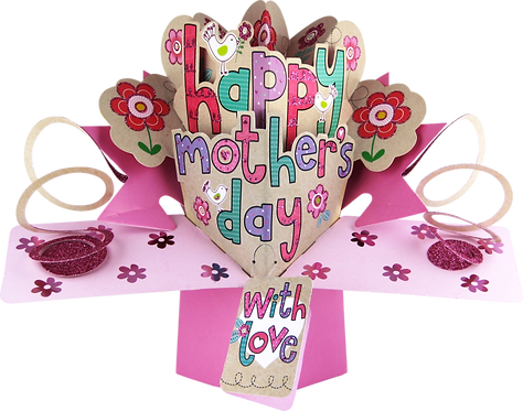 Mother's Day with Love 3d Pop Up