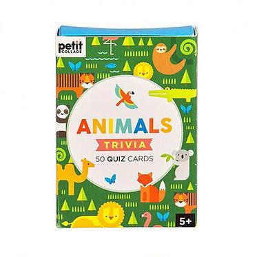 Animals Trivia 50 Quiz Cards