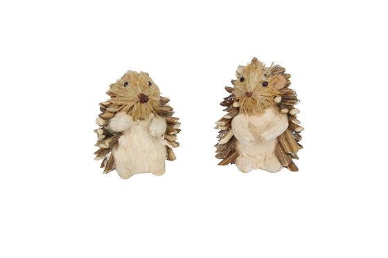 Hanging Hedgehog Bristle Decoration