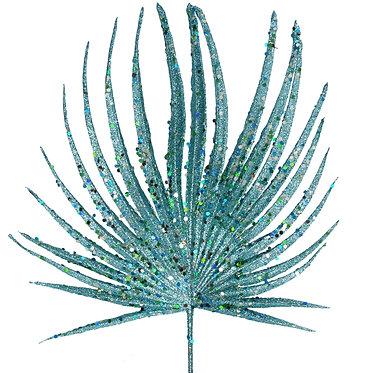Turquoise Glitter Palm Stem