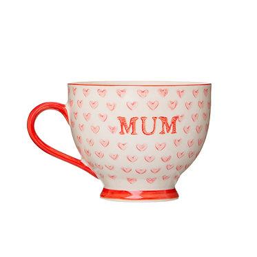 Mum Mug Bohemian Red Heart