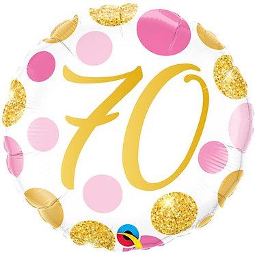 Age 70 balloons