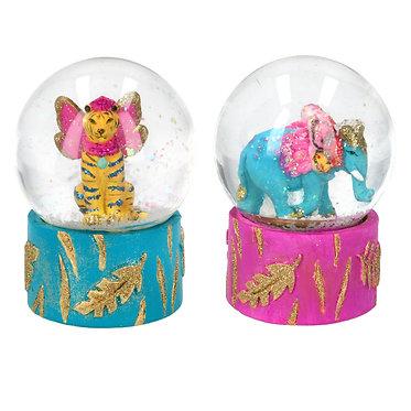 Fantasy Tiger/Elephant Snow Globe