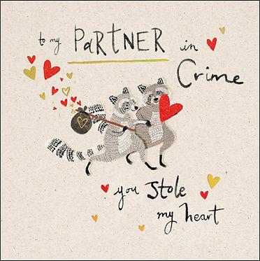 My Partner in Crime Valentine's Card