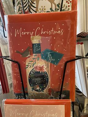 Merry Christmas Gin Bottle