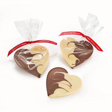 Milk and White Chocolate Heart