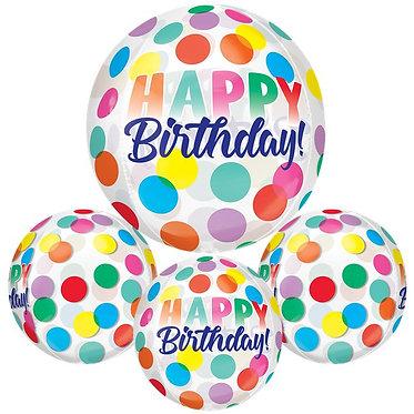 Orbz Birthday Balloons (See Through)