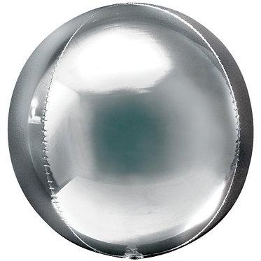 Silver Orbz Helium Filled Foil Balloon