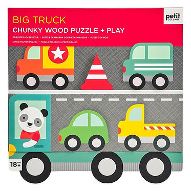 Big Truck Chunky Wood Puzzle + Play