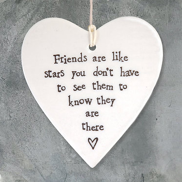 Friends are Like Stars Hanging Hearts