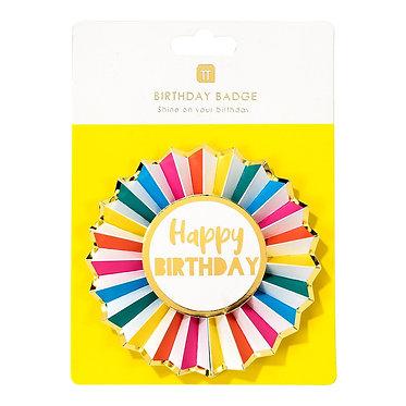 Birthday Badge Rosette