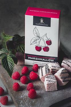 Chocolate Drizzled Raspberry Marshmallows