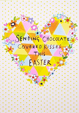 Chocolate Covered Kisses Easter Card by Paper Salad