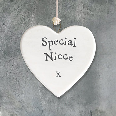 Special Niece Small Hanging Heart