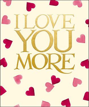 Emma Bridgewater Love You More Card