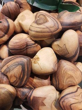 Little Olive Wood Heart