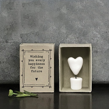 Matchbox Heart in a Pot