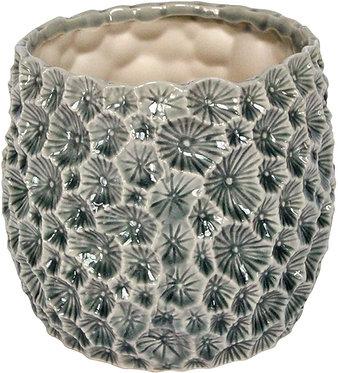 Fossil Design Ceramic Plant Pot