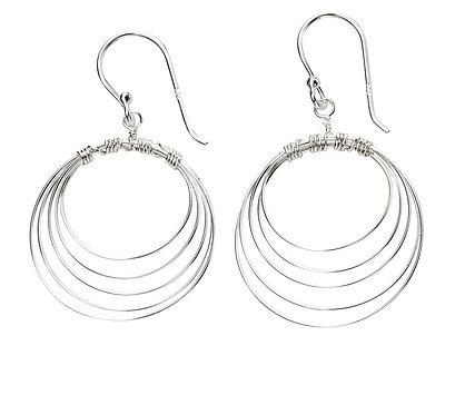 Multi Open Wire Circle Earrings