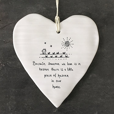Because Someone We Love Hanging Heart