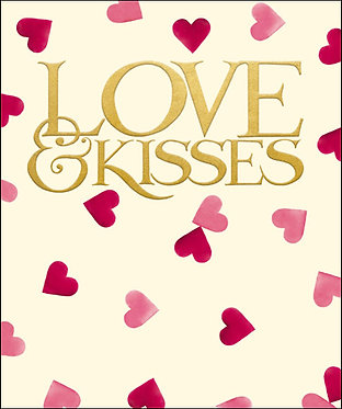Emma Bridgewater Love and Kisses Card