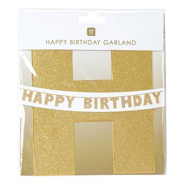 Gold Glitter Birthday Garland