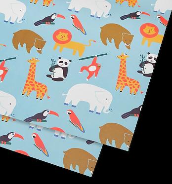 Animals Giftwrap Single Sheet