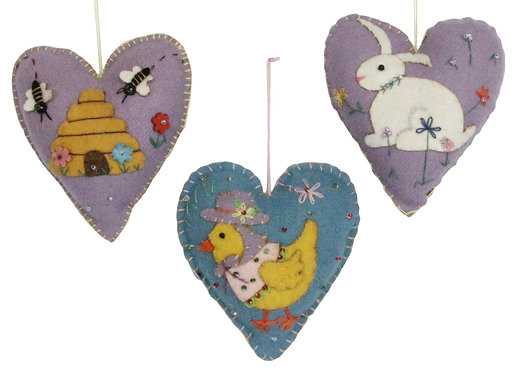 Hanging Heart Easter Decoration