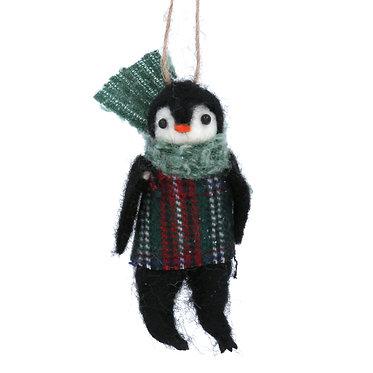 Wool Mix Penguin Hanging Decoration