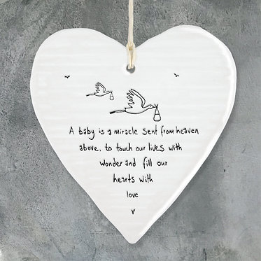 A Baby is a Miracle Hanging Heart