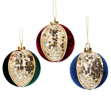 Fabric Gold Sequin/Fabric Bauble
