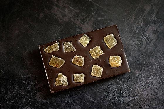 Artisan Dark Chocolate Bar Ginger