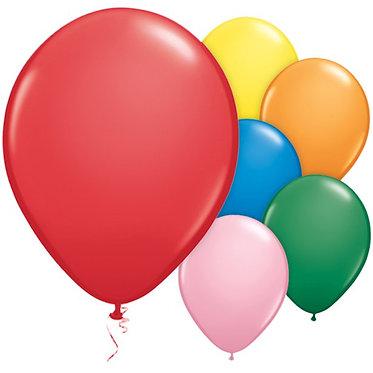 10 Multi Colour Balloon Mix