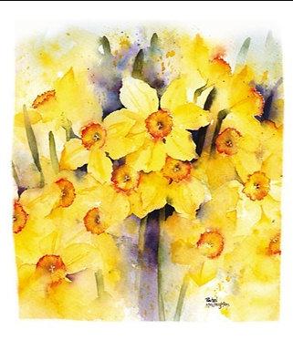 Daffodils Easter Card