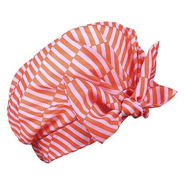 Pink Stripe Shower Cap Ys Studio