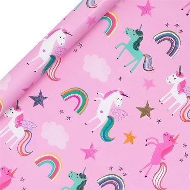 Pink Unicorns Roll Wrap