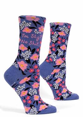 'Im shy' socks