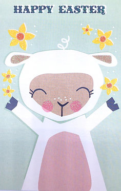 Easter Lamb Card by The Art File