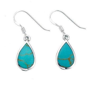Turquoise Teardrop Earring