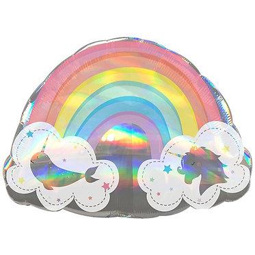 Holographic Rainbow Shape Balloon