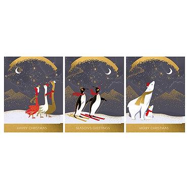 Sara Miller Bear, Penguins & Geese Card Box